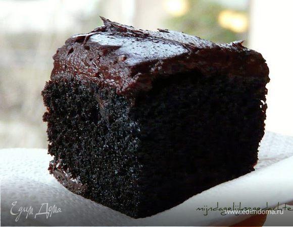 Мега брауни с двойным шоколадом