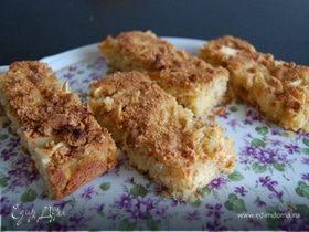 Яблочный пирог с миндальным печеньем