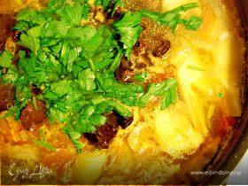 Соляночка по-итальянски с рисом и артишоками