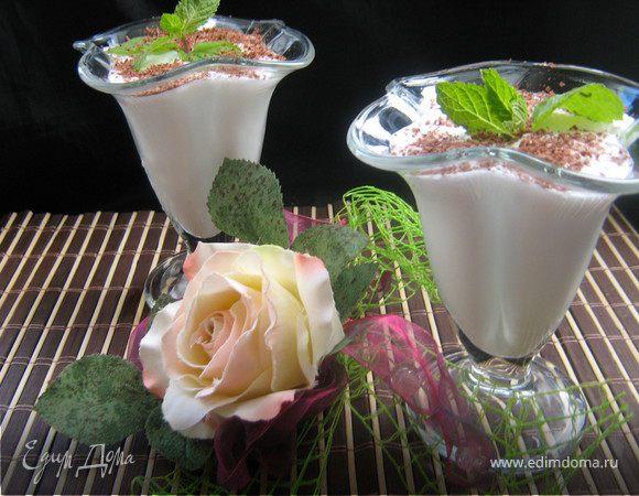 Имбирно-мятный коктейль с мороженым