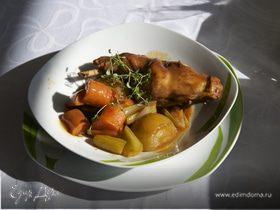 Кролик в винном соусе