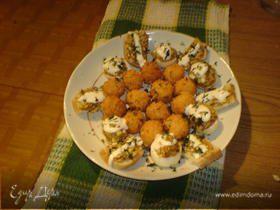 Быстрая закуска (сырные шарики,фаршированные яйца и бутики)