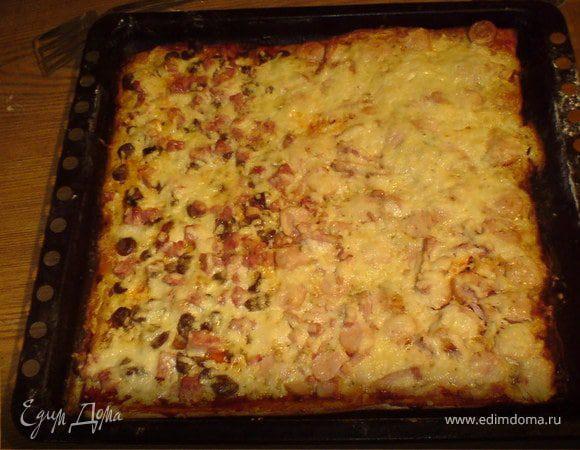 Пицца «Сердечно-колбасная»