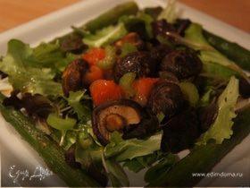 Теплый салат с шиитаке