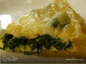 """""""Киш & Со."""" :-) Пикантный киш со шпинатом и хрустящей сырной корочкой"""
