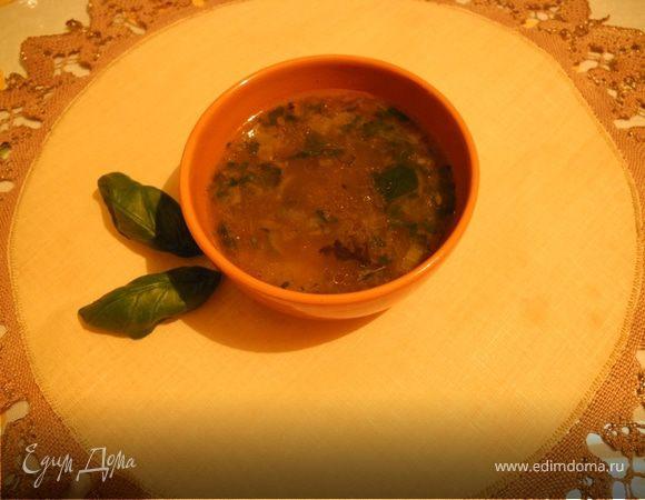 Суп из бобовых с вялеными помидорами