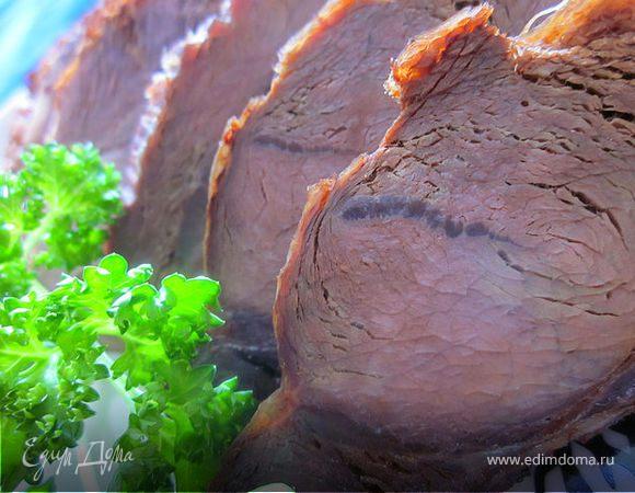 Запечённое мясо кабана