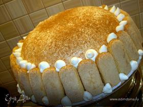 Торт-купол с творожным кремом для Дарьюшки