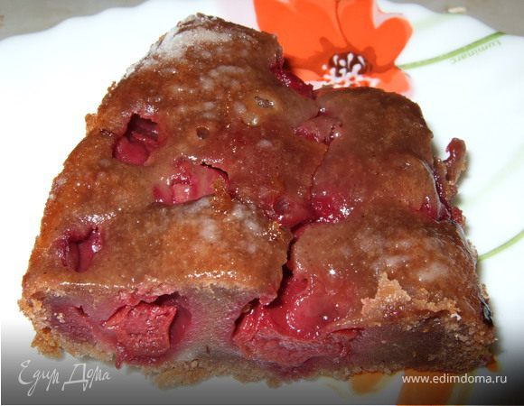 Вишнево-шоколадный пирог