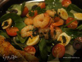 Салат с коралловыми драконами и ноткой Италии