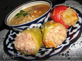 Фаршиованные овощи+бонус-нутовый суп