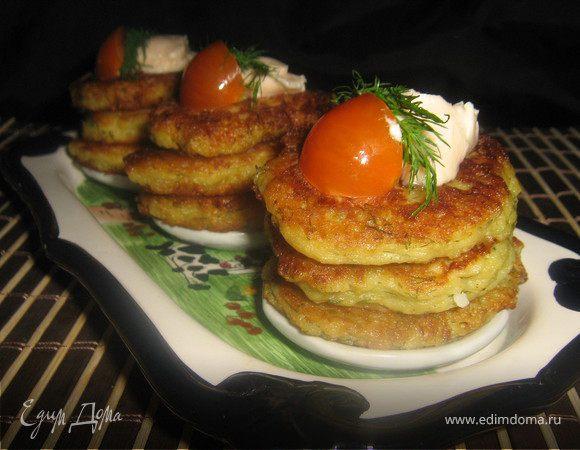 Картофельно-яблочные оладьи закусочные