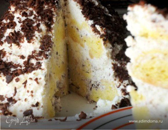 Сметанно-творожный десерт