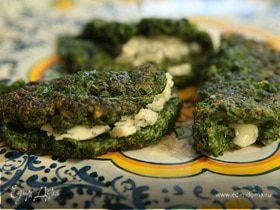Блинчики из шпината с голубым сыром