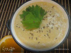 Чечевично-апельсиновый суп-пюре
