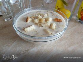Сырный супчик с грибами и гренками