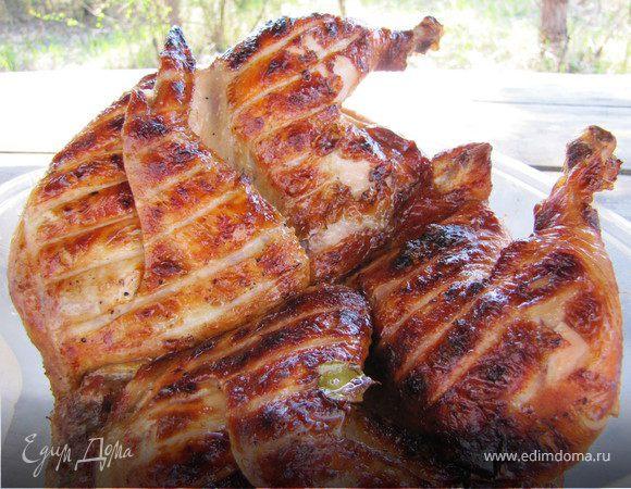 Курица на мангале