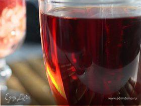 Вишневый чай с медом и мятой