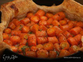 Пирог с морковью, медом и тимьяном