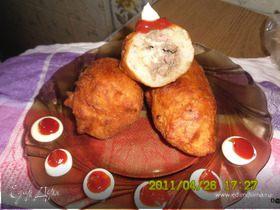 Орские ливерные пирожки из жидкого теста