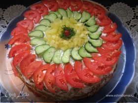 Закусочный кабачковый торт (мой вариант)