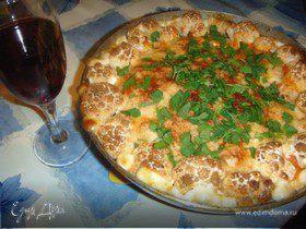 Куриная запеканка с цветной капустой и вином