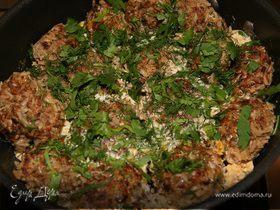 Мясные тефтельки с рисом и зеленью