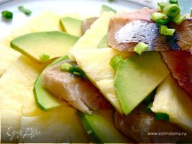 Салат из ананаса, авокадо и...