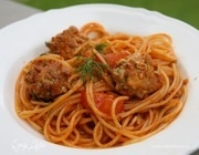 Спагетти с шариками из тунца