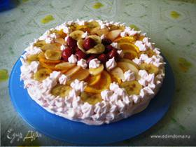 Торт-суфле с фруктами