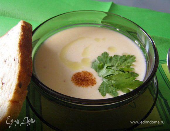 Мягкий сырный суп-пюре