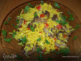 Карри рис с грибами