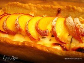 Пирог с козьим сыром,моцареллой и нектаринами
