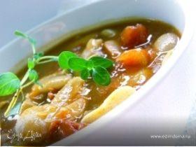 Суп с перловкой и фасолью