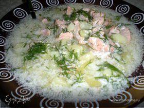 Сливочный суп из лосося