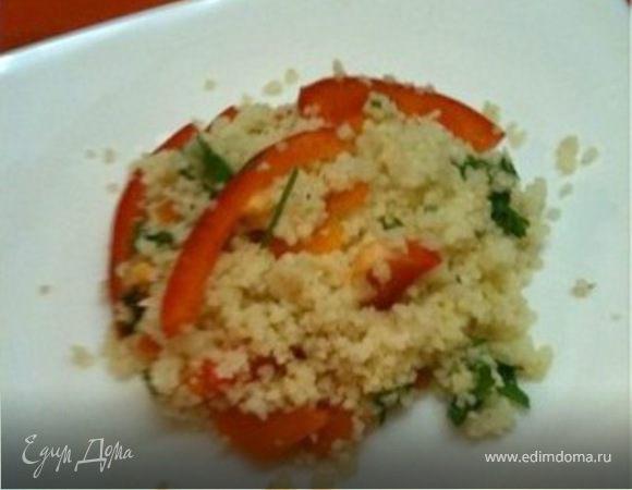 Кускус с овощами и шпинатом