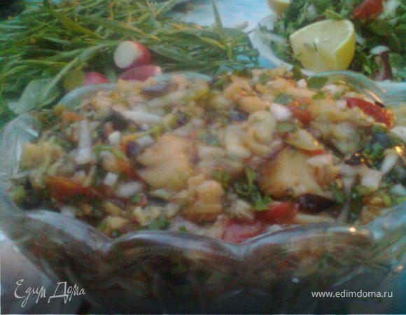 Баклажановый салат на мангале