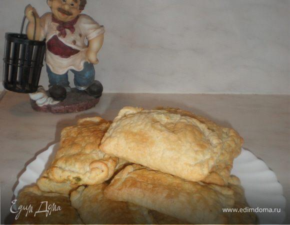 Пирожки с сыром фета и шпинатом