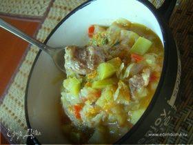 Летнее овощное рагу с мясом( и без)
