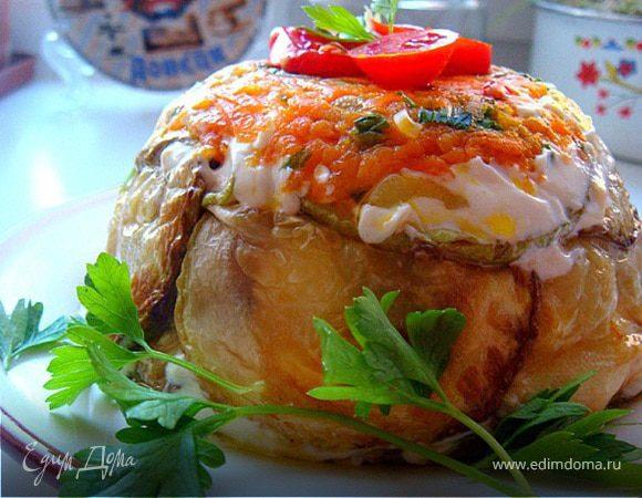 Тортик-закуска из кабачков (с посвящением Тусе)