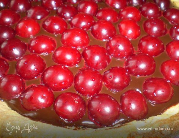Шоколадно-вишневый тарт