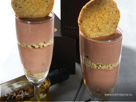 Шоколадный крем с оливковым маслом и фисташками