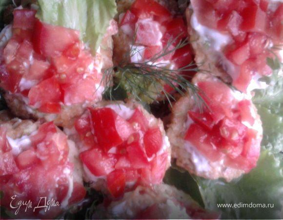 Закуска из кабачковых оладушков