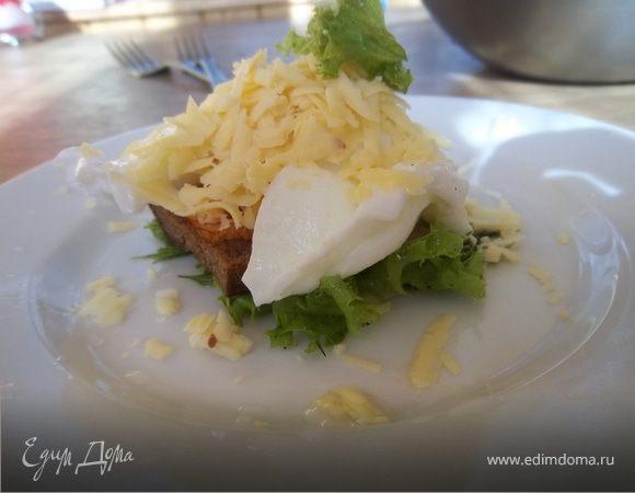 Теплый салат с беконом