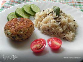 Рыбные зразы с грибами и луком