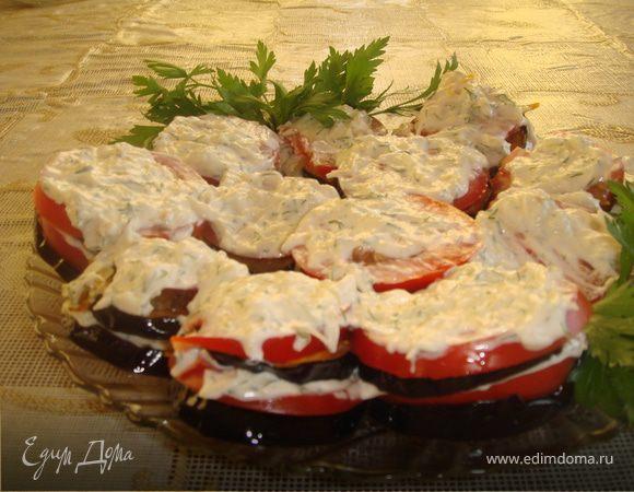 Нежная закуска из баклажан