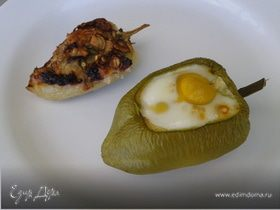 Яйца в перцах и перцы с начинкой