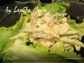 Салат с курицей (диетический вариант)