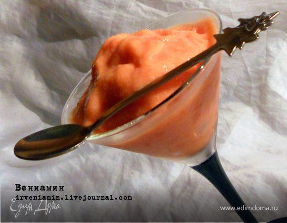 Персиковое сорбе с медом