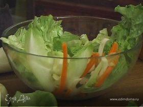 Салат со сметанной заправкой